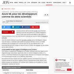 Azure ML pour les développeurs comme les data scientists