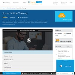 Azure Online Course from India