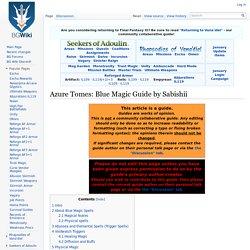 Azure Tomes: Blue Magic Guide by Sabishii - BG FFXI Wiki