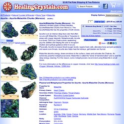 Azurite - Azurite-Malachite Chunks (Morocco)- Malachite - Healing Crystals