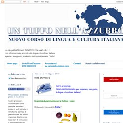 Un tuffo nell'azzurro: corso di italiano per stranieri, italiano L2 - LS: Tutti a tavola! 3