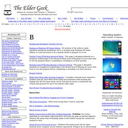 The Elder Geek on Windows