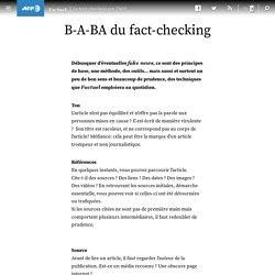B-A-BA du fact-checking