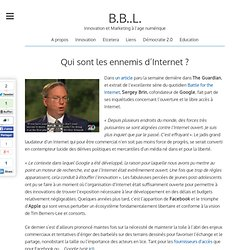Qui sont les ennemis d'Internet ? | Digital-In