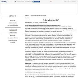 B. Le refus des SDF - SDFrance