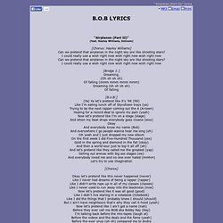 Eminem - Airplanes Part 2 Lyrics | MetroLyrics