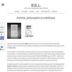 Pomme, philosophie et esthétique