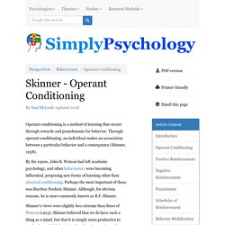 Operant Conditioning - An explanation