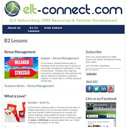 B2 Lessons - ELT Connect