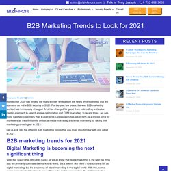 B2B Marketing Trends to Look for 2021