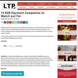 13 B2B Payment Companies to Watch out For