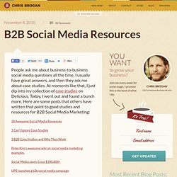 B2B Social Media Resources