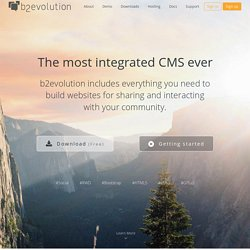 b2evolution: More than a blog! - Open Source Blog/CMS Software