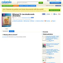 B2hainaut 15 (Belgique) - 2011 - Les circuits courts alimentaires