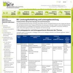 B6: Leistungsfeststellung und Leistungsbeurteilung