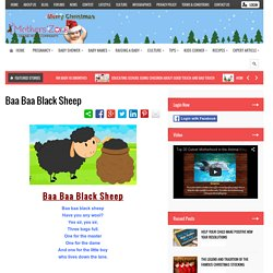 Baa Baa Black Sheep Nursery Rhymes