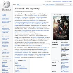 Baahubali: The Beginning - Wikipedia