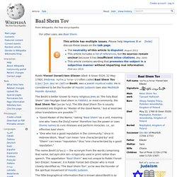 Baal Shem Tov