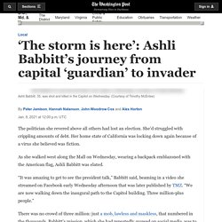 Ashli Babbitt's journey to the Capitol, where the Trump and QAnon supporter was fatally shot by police