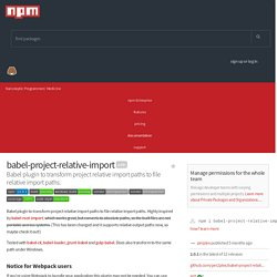 babel-project-relative-import