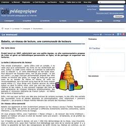 Babelio, un réseau de lecture, une communauté de lecteurs