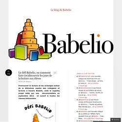 Le défi Babelio, ou comment faire (re)découvrir les joies de la lecture aux élèves