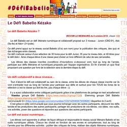 Le Défi Babelio (5ème-4ème + 3ème-Lycée)