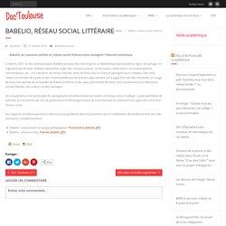 Babelio, réseau social littéraire – Doc'Toulouse