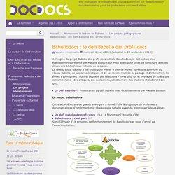 Babeliodocs : le défi Babelio des profs-docs - Doc pour docs
