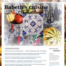 Babeth's cuisine: En fait, je n'en ai jamais bu.....mais maintenant j'en ai mangé!