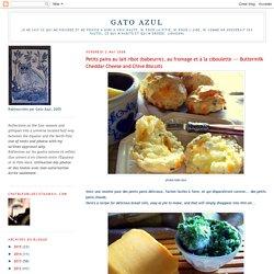 Petits pains au lait ribot (babeurre), au fromage et à la ciboulette