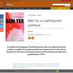 Babi Yar, un palimpseste politique
