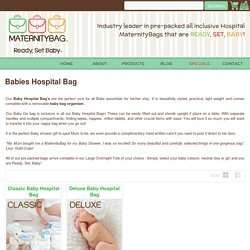 New born baby bag pre packed with essential items