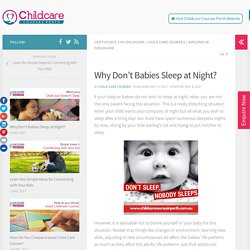 Why Don't Babies Sleep at Night? – Child Care Courses Perth Blog