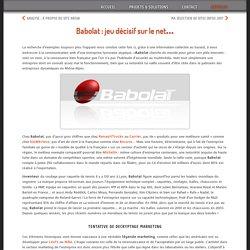 Babolat : jeu décisif sur le net…
