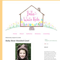 Baby Bear Hooded Cowl