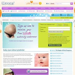 Baby eye colour predictor Huggies.com.au