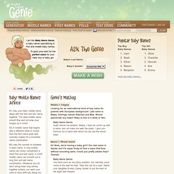 Baby Names, Middle Names, Name Generator