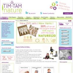 Vêtements Bio Bébé 0-3 ans - Tim-Tam Nature