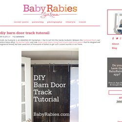 DIY Barn Door Track Tutorial
