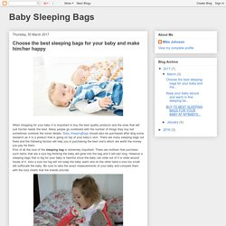 Baby Sleeping Bags: Choose the best sleeping bags for your baby and make him/her happy
