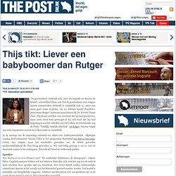 Thijs tikt: Liever een babyboomer dan Rutger