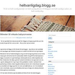 Mönster till virkade babyconverse - heltvanligdag.blogg.se