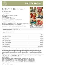 BabyDROPS 16-26 by DROPS Design