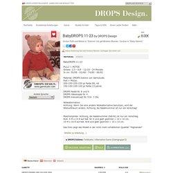 """BabyDROPS 11-23 - Dicker Pulli und Mütze in """"Eskimo"""" mit gehäkelten Blumen. Socken in """"Baby Merino"""" - Free pattern by DROPS Design"""