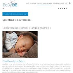 Qu'entend le nouveau-né?