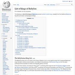 List of kings of Babylon