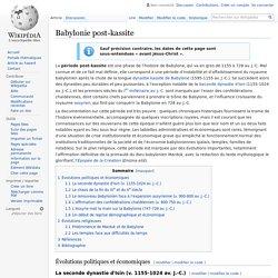 Babylonie post-kassite