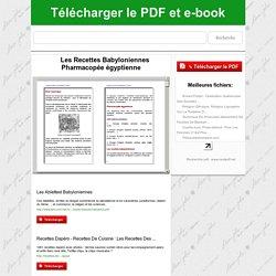 Les Recettes Babyloniennes Pharmacopée égyptienne télécharger le PDF - NextPDF