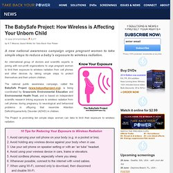 The BabySafe Project: How Wireless is Affecting Your Unborn Child